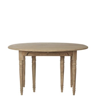 Pe2rth Extending Weathered Oak Dining Table - Wood