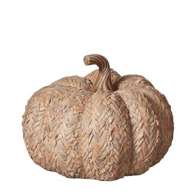 Pepo Herringbone Decorative Pumpkin - Natural