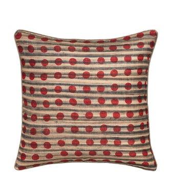 Perdita Pillow Cover - Natural/Red