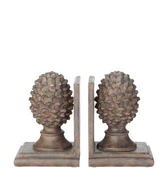 Pair of Pinus Bookends - Grey