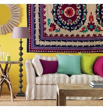 Plain Colours Linen Cushion Cover - Blue