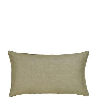 Plain Linen Pillow Cover Rectangular - Light Sage