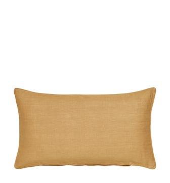 Plain Linen Pillow Cover Rectangular - Dijon