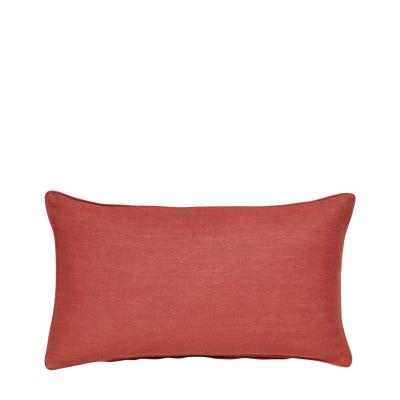 Plain Linen Pillow Cover Rectangular - Terra