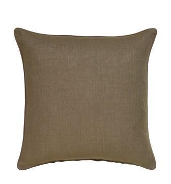 Plain Linen Pillow Cover Square - Elephant Gray