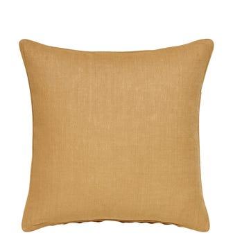 Plain Linen Pillow Cover Square - Dijon