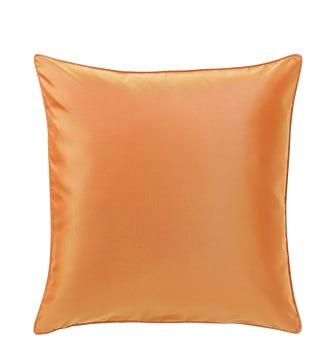 Plain Silk Cushion Cover, Large - Burnt Orange