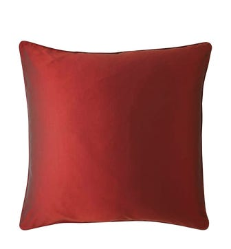 Plain Silk Cushion Cover, Assorted Colours - Red