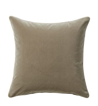 Plain Velvet Cushion Cover (51cmSq) - Flaxen