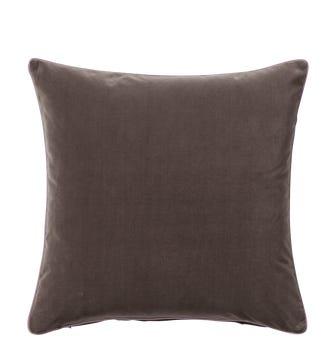 Plain Velvet Cushion Cover (51cmSq) - Elephant Grey
