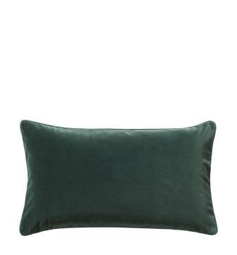 Plain Velvet Cushion Cover (60x35cm) - Marine Blue