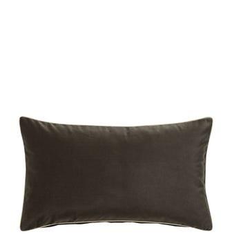 Plain Velvet Cushion Cover (60x35cm) - Truffle