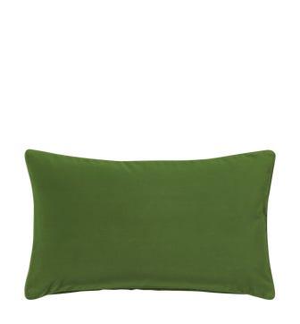 Plain Velvet Cushion Cover (60x35cm) - Putting Green