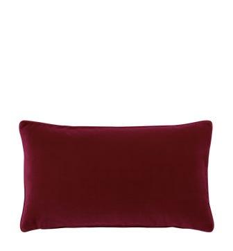 Plain Velvet Pillow Cover - Grenache