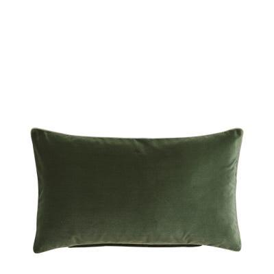 Plain Velvet Cushion Cover - Moss