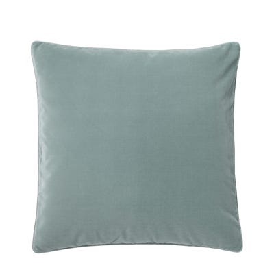 Plain Velvet Cushion Cover, Large - Gainsborough Blue