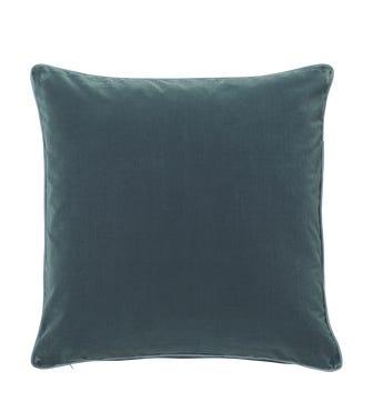 Plain Velvet Cushion Cover, Large - Air Force Blue