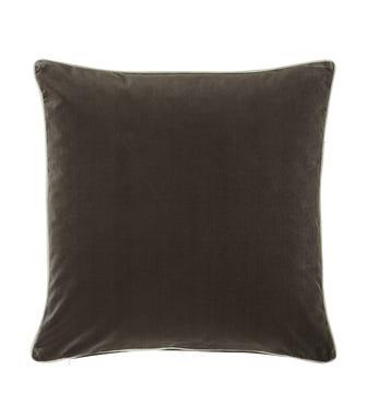 Plain Velvet Cushion Cover, Large - Truffle