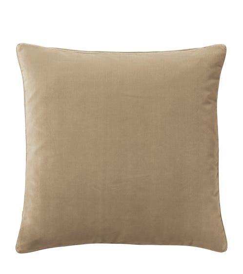 Plain Velvet Cushion Cover, Large - Porridge