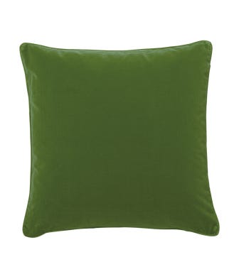 Plain Velvet Cushion Cover, Large - Putting Green