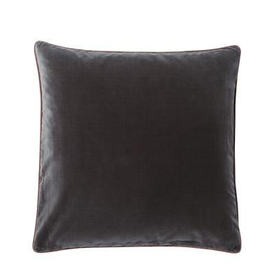 Plain Velvet Cushion Cover, Large - Gainsborough Grey
