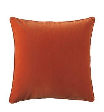 Plain Velvet Cushion Cover, Large - Burnt Orange