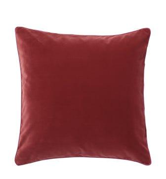 Plain Velvet Cushion Cover, Large - Blood Orange