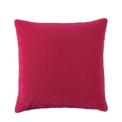 Plain Velvet Cushion Cover, Large - Hot Pink