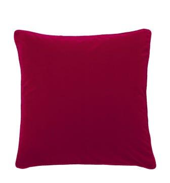 Plain Velvet Cushion Cover, Large - Grenache