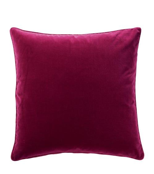 Plain Velvet Cushion Cover - Raspberry