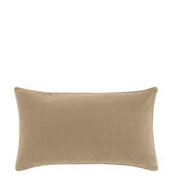 Small Plain Velvet Cushion Cover - Porridge