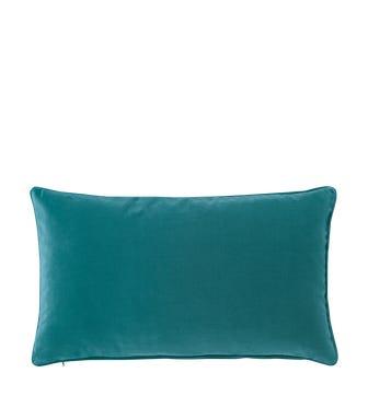 Plain Velvet Cushion Cover, Small - Renoir Blue