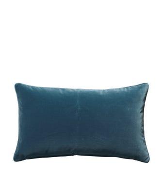 Plain Velvet Cushion Cover, Small - Atlantic Blue