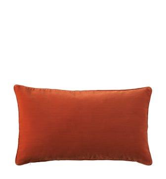 Plain Velvet Cushion Cover, Small - Burnt Orange