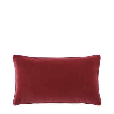 Plain Velvet Cushion Cover, Small - Blood Orange