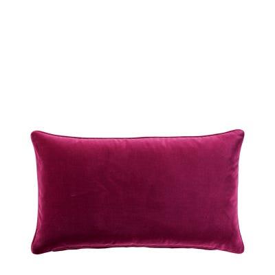 Plain Velvet Cushion Cover, Small - Raspberry