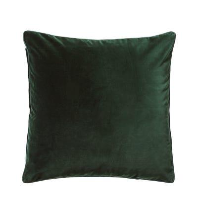 Plain Velvet Cushion Cover Square - Midnight Green