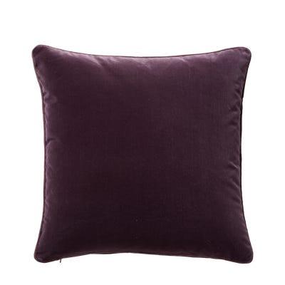 Plain Velvet Pillow Cover (51cmSq) - Aubergine