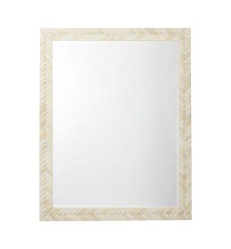 Plaited Bone Mirror - Bone