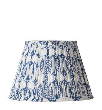 Pleated Daun Cotton Lampshade 25cm - Indigo
