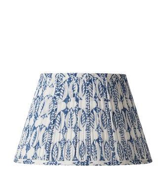 Pleated Daun Cotton Lampshade 35cm - Indigo