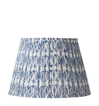 Pleated Daun Cotton Lampshade 45cm - Indigo