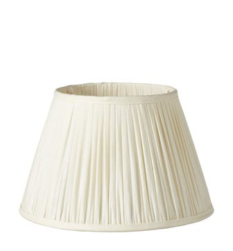 Pleated Linen Lampshade & Carrier (35) - Ecru