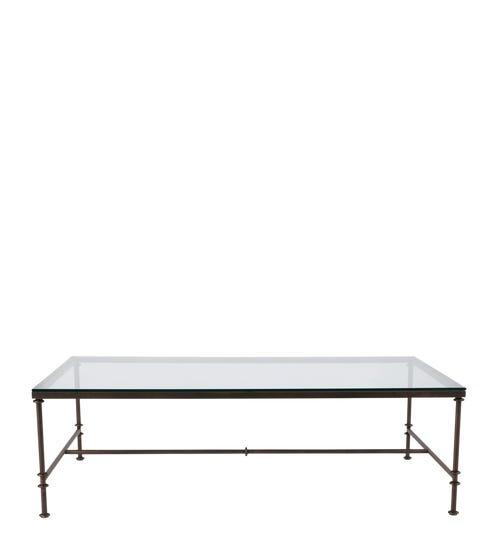 Pompidou Metal & Glass Coffee Table, Large - Metal