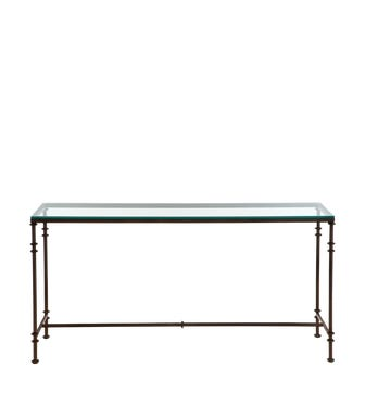 Pompidou Console Table, Large - Metal & Glass