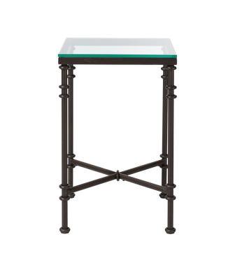 Pompidou Metal & Glass Side Table, Small - Metal