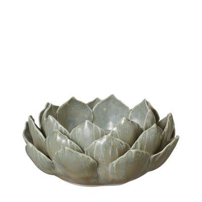 Porcelain Artichoke Candle Holder - Green
