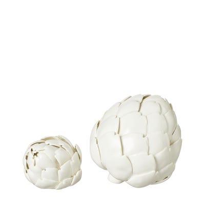 Pair of Porcelain Artichokes - White