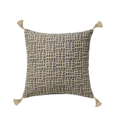 Portloe Dashes Cushion Cover - Prussian Blue