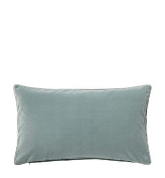 Plain Velvet Cushion Cover, Rectangular - Gainsborough Blue